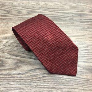 Gianfranco Ferre Red & Black Check Silk Tie